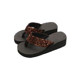 Semelles compensées peep toe en Ligne-Sandales antidérapantes pour femmes Peep Toe Home Wedges Slippers Plus Size Slipper Tongs d'intérieur et d'extérieur 10