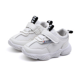 wholesale shoes sale Promo Codes - Ins hot sale baby shoes kids sneakers baby sneakers White toddler boy shoes toddler sneakers toddler boy sneaker baby girl shoes A4224