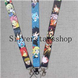 FAIRY TAIL LANYARD Happy Lucy Natsu Gray anime manga ID neck key chain strap 4V