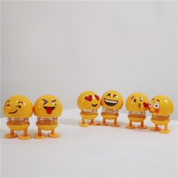 Crianças primavera brinquedos on-line-Shaking Head Emoji Boneca de Brinquedo Da Criança Bonecas de Primavera Em Forma de Coração Brinquedos de Plástico Amarelo Partido Cimento Presente Criativo 4 5jy C1