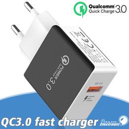 5v 3a ladegerät adapter Rabatt QC 3.0 Schnellladegerät USB Schnellladegeräte 5V 3A 9V 2A Reisestrom Wandadapter Schnellladeadapter US EU-Stecker für Samsung Apple iPhone