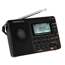 minuterie de lecteur mp3 Promotion Portable Audio Vidéo Radio FM / AM / SW Radio multibande Récepteur REC Lecteur MP3 Bass Sound Haut-parleurs avec Sleep Timer