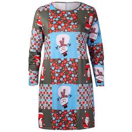 платье элегантный женская повседневная ретро с длинным рукавом старинные Рождество печатных коктейль плюс размер платье vestidos verano 2019 от