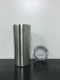 Palhas personalizadas on-line-15 OZ magro copos com tampas e Double Wall palhas isolados Garrafas de aço inoxidável rectilínea Cup Projete Em armazém