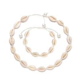 2019 collier corde corde pour pendentifs Perles Coquillage Collier Ras Du Cou pour Femmes Coquillage Pendentif Collier Cordé Coquillage À La Main Corde Cordon Plage Bijoux collier corde corde pour pendentifs pas cher