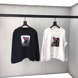 2019 digitaldruck-sweatshirt 19FW Palm Angels Sweatshirts Cartoon Bär Paar Liebhaber Digital Direktdruck Palm Angels Hoodie Pullover günstig digitaldruck-sweatshirt