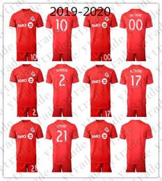 Costume feito uniforme on-line-2019-2020 Toronto Soccer Jersey Homens 10 Sebastian Giovinco Osorio Conjunto Altidore Fazer Morrow Personalizado FC Camisa De Futebol Kits Uniforme Vermelho