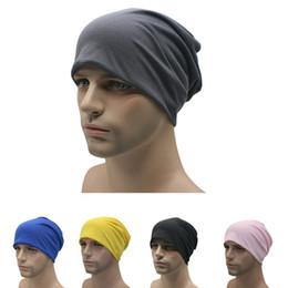 bonés elegantes de inverno masculinos Desconto Doces chapéu da cor por Mulheres Homens Cotton Beanie Elegante Fina Hip-hop Caps Cap Pilha macia Cancer Chemo Hat Unisex Winter Fashion