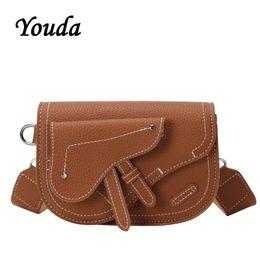 mobile beutelentwürfe Rabatt Youda Fashion Damen Schultertasche Ursprünglicher Entwurf Sattel-Form-Handy-Beutel-beiläufige Art Normallack-Frauen Kuriertaschen