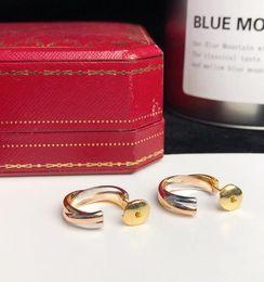 bling nappe all'ingrosso Sconti Orecchini in argento sterling tricolore misto 925 Gioielli designer TRINITY per donne Orecchini alti con scatola