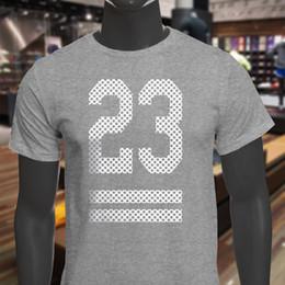 Argentina Venta al por mayor Polka Support Dropship 23 para hombre camiseta gris camiseta de manga corta marca de ropa de moda Camiseta Masculina XXXL algodón hombres Suministro