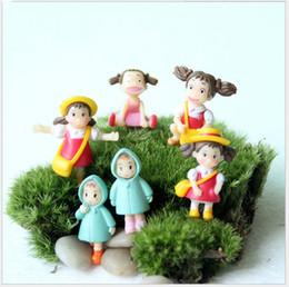 Animar manzana online-Q versión 3.5 cm chinchillas Xiaomei Hayao Miyazaki animado de dibujos animados figura de acción juguetes niña regalos en maceta adornos Holder Envío Gratis