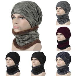 sombreros de beanie fresco para las mujeres Rebajas Unisex Hombre Mujer Invierno Beanie Hat bufanda conjunto Cálido gorro de punto con bufanda Fresco cálido y maduro sombrero