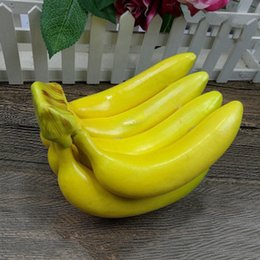 2020 frutas falsas hortalizas decoracion Frutas Verduras plátano falso Simulación Pequeño Espuma Inicio decoración del ornamento frutas falsas hortalizas decoracion baratos