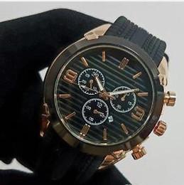 2019 reloj de goma china 2018 producción en China 44 mm reloj de alta calidad para hombre reloj de diseño de la marca de lujo reloj de goma de los hombres fecha automática día negro gran explosio