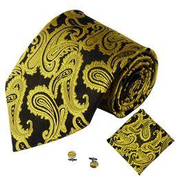 Hommes Cravate Poche Carré Mouchoir Boutons De Manchette Ensemble Polyester Soie Couleur Unie Extra Long Taille Largeur Cravate De Mariage D'affaires #YL ? partir de fabricateur