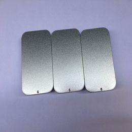 Vaso usb online-200 pz / lotto 80 * 50 * 15mm formato Vuoto semplice argento colore metallo slide top scatola di latta, contenitore di caramelle scatola rettangolare usb contenitore di vetro
