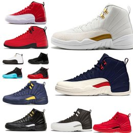 2019 chaussure new york 12 Nike Air Jordan 12s Chaussures de basketball pour hommes 2019 Nouveau Michigan Wntr Gymnase Rouge NYC OVO Laine XII Designer Chaussures Chaussures de sport Baskets Baskets 40-47 chaussure new york pas cher