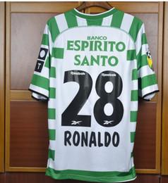 portugal fußball trikots Rabatt 02 03 Sporting Ronaldo Portugal Trikot 2002 2003 Fußball-Trikots von Lissabon, Fußball-Sets von Ronaldo Maillot