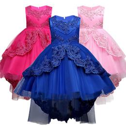 abiti da sposa 11 anni Sconti Summer Kids Abito formale per ragazze Vestiti Flower Pageant Birthday Party Princess Dress Vestiti per ragazza 14 anni Y19011404