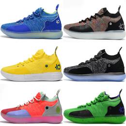 Sapatas da estrela de kevin durante on-line-KD 11 Elite EP Sapatos de Basquete KD 11S Oreo Ouro Branco Azul Gelo Multicolor Pêssego Jam Mens Formadores Kevin Durant All-Star BHM Sneakers