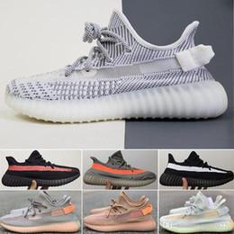 adidas yeezy 350 supreme 2019 Static V2 Kanye West Diseñador Hombre Zapatillas Mantequilla Sésamo Zebra Cream Blanco 350 Bred Black Mujer Deporte Zapatos para correr 36-48 desde fabricantes