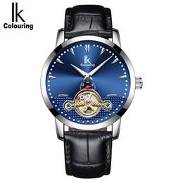 2e5cb056f01 IK Colorir Homens Relógios de Luxo À Prova D  Água Luminosa Negócios Casual  Relógio de Pulso Mecânico Automático