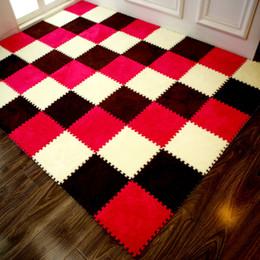 tapis de mousse Promotion Porte tapis Stitching de tapis-chambre en mousse EVA salon ramper coussin tatami casse-tête tapis de tapis de sol en peluche 30 * 30 * 1cm matériau EVA