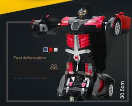 qualidade de brinquedos de fazenda animal Desconto 2.4g transformador de indução gesto transformador brinquedos para crianças controle remoto carro transformador robô carro de controle remoto elétrico