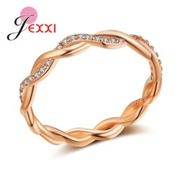 2019 meninas ouro dedo anel de moda JEMMIN Modern Rose cor anel de ouro de luxo Moda Anel Bijoux Mulheres menina Anniversary Ring Finger Nomeação Zirconia Cubic meninas ouro dedo anel de moda barato