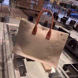 honda de algodón bolsas mujeres Rebajas 2019 diseñador vendedor caliente del río Gauche bolsas de mano, tienda de sincronización de la parte superior bolsas de compras, ropa de viaje de lino bolsas de compras, 45 * 36 * 16 cm
