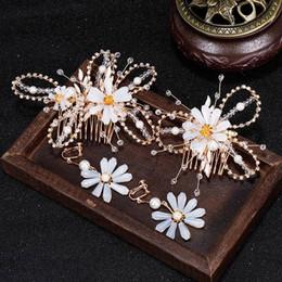 Set di gioielli da sposa Orecchini a pettine in cristallo caldo europeo e americano Orecchini da sposa in cristallo Accessori per gioielli belli da