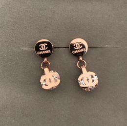Oro de lujo online-Joyería Fina Corazón de lujo marca diamante Pendiente 18K oro rosa Mujeres Charm Pendiente pulseiras Moda Famosa Marca Stud Pendientes Para Mujer