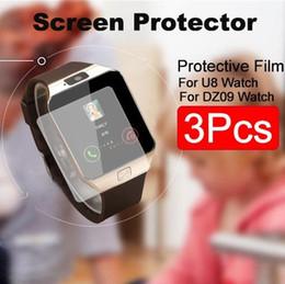 1 pz di alta qualità Ultra sottile HD Clear LCD Screen Protector pellicola protettiva per U8 Bluetooth Smart Watch Upgrade Shield Guard Smart Watch Fil supplier bluetooth shield da schermo bluetooth fornitori