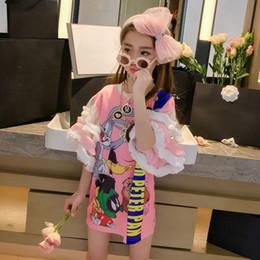 Seidenfee online-Koreanische Mädchen Kleid 2019 neue Sommerkleid großen Jungen ausländischen Mode Mädchen Rock Fee Seide Gaze Rock