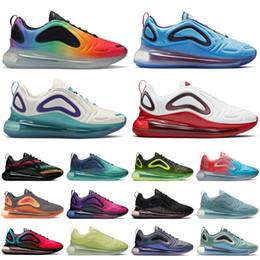 nike air max 720 Chine nouvelle Espace Hommes chaussures Designer Soyez Mesh Ture Triple Noir Sunrise Sunset Neon Mèches Hot Lava Rose Sea Runner