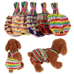 Pantalones mascotas fisiológicos online-Pañales para perros Pantalones fisiológicos lavables para mascotas Ropa interior Cachorros Pañales Reutilizables Pañales para perros Lavable Envolturas sanitarias