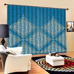 stringa di paglia all'ingrosso Sconti tende blu Tenda oscurante Personalizzata 3D Tende oscuranti Soggiorno Camera da letto Finestra dell'hotel