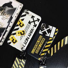 Fashion Off Simple Inglés Carta blanca Pareja caja del teléfono para iPhone 6 6S 7 8 Plus X XS XR MAX cubierta suave con cordón desde fabricantes