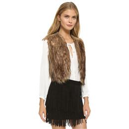 Giubbotto di velluto delle signore online-Giacca invernale donna in stile europeo e americano, gilet in pelliccia finta, giacca in velluto senza maniche, giacca lunga corta capelli lunghi