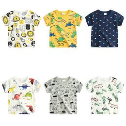Crianças esporte on-line-Varejo crianças designer de camisetas meninos meninas de manga curta de algodão dos desenhos animados tshirts impressos moda esporte casual camiseta tanque top tees tee tops