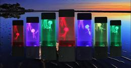 Renkli LED denizanası gece Lambası Ev Dekorasyon Volkan ışıkları yaratıcı atmosfer ışıkları başucu masa hareket lambası nereden