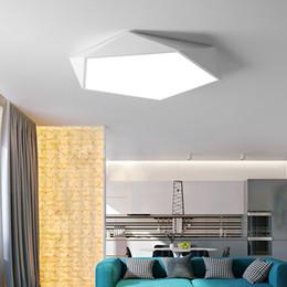 2019 luces de techo del balcón Creativo arte geométrico iluminación led lámpara de techo para sala de estar estudio estudio pasillo balcón Iluminación de techo luces de techo del balcón baratos