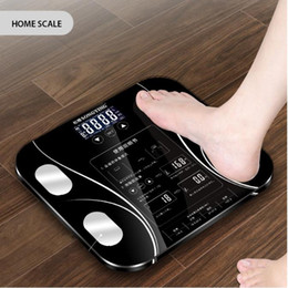 smart body scale Promo Codes - Hot Bathroom Body Fat bmi Scale Digital Human Weight Mi Scales Floor lcd display Body Index Electronic Smart Weighing Scales
