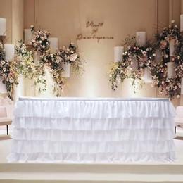 2019 botín de mesa de bodas de oro Decoración de Navidad fiesta de cumpleaños del banquete de boda de la falda de tul tutú nueva tabla Vajilla bebé