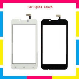 2019 pannello touch screen capacitivo Sostituzione Touch Screen Digitizer Sensor Outer Glass Lens Panel per Fly IQ441