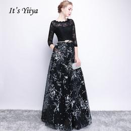 C'est YiiYa demi-manches arc Floral Imprimer dentelle élégante A-ligne Zipper Dîner Robes de soirée Robe Robe de soirée longueur ? partir de fabricateur