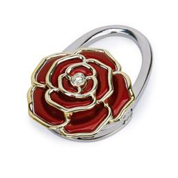Bolso en forma de rosa online-Forma plegable de la flor de Rose del tenedor de la caída del gancho de la tabla del bolso / del monedero / de la bolsa