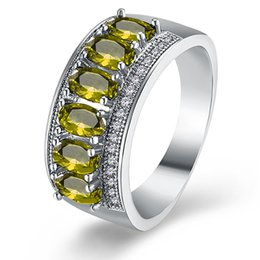 anillos de boda baratijas Rebajas Garilina Cute charm simple bisutería Verde CZ Anillo para mujer Silver Fille Alianzas de boda Anillo de aniversario R2164