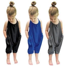 Petites filles en coton Onesies Barboteuses Enfants Combinaisons salopettes pour bébé Coton Backless Barboteuses Combinaisons Une pièce gris jarretelles salopette ? partir de fabricateur